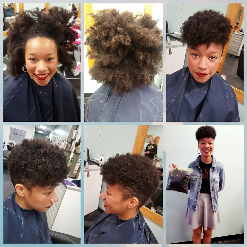 Beautiful before and after hair cut by Jordan James
