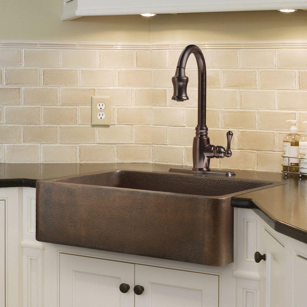 Sinkology copper dual mount sinks Copper kitchen sink