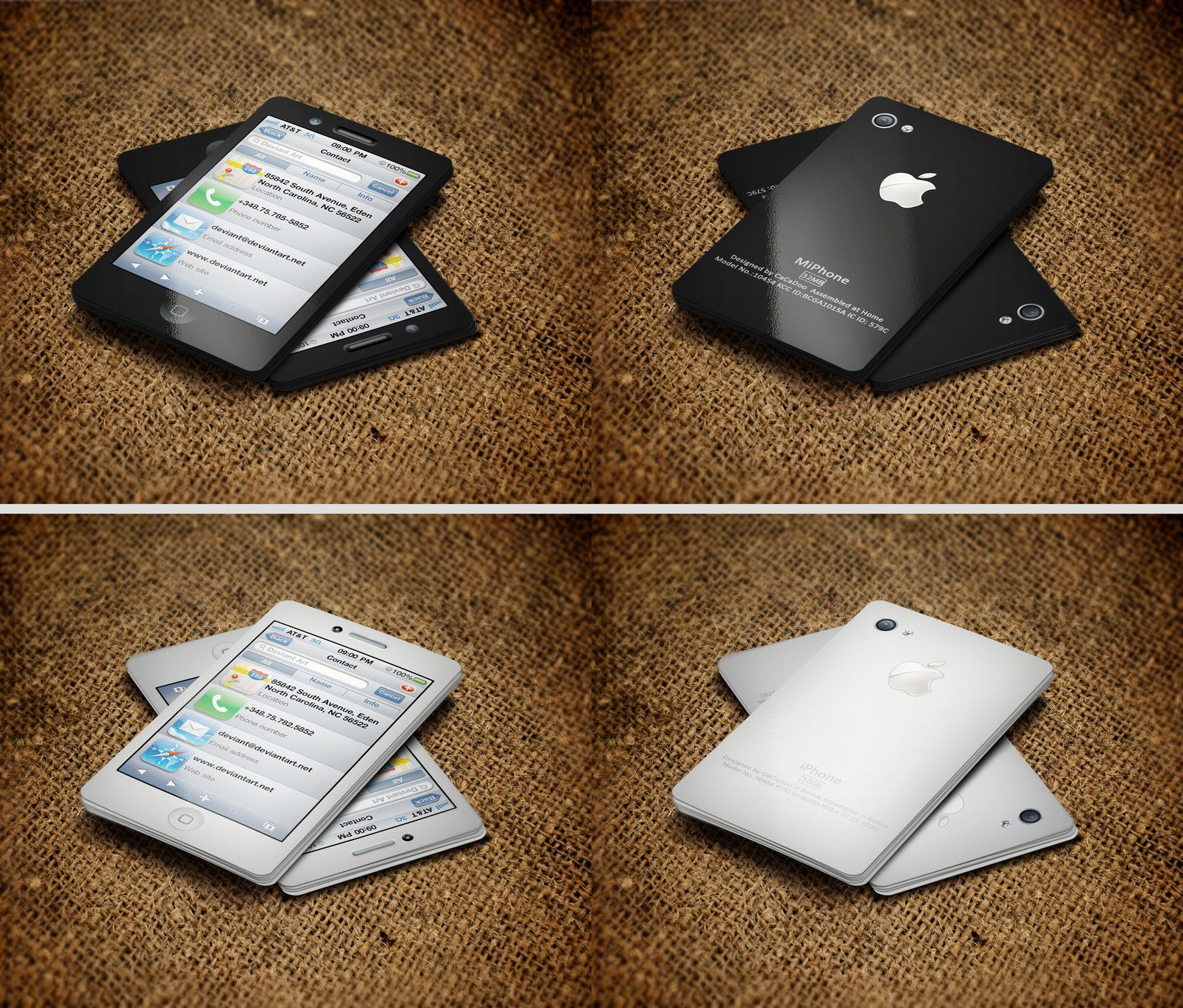 Iphone Business Card V2 By Cacadoo On Deviantart