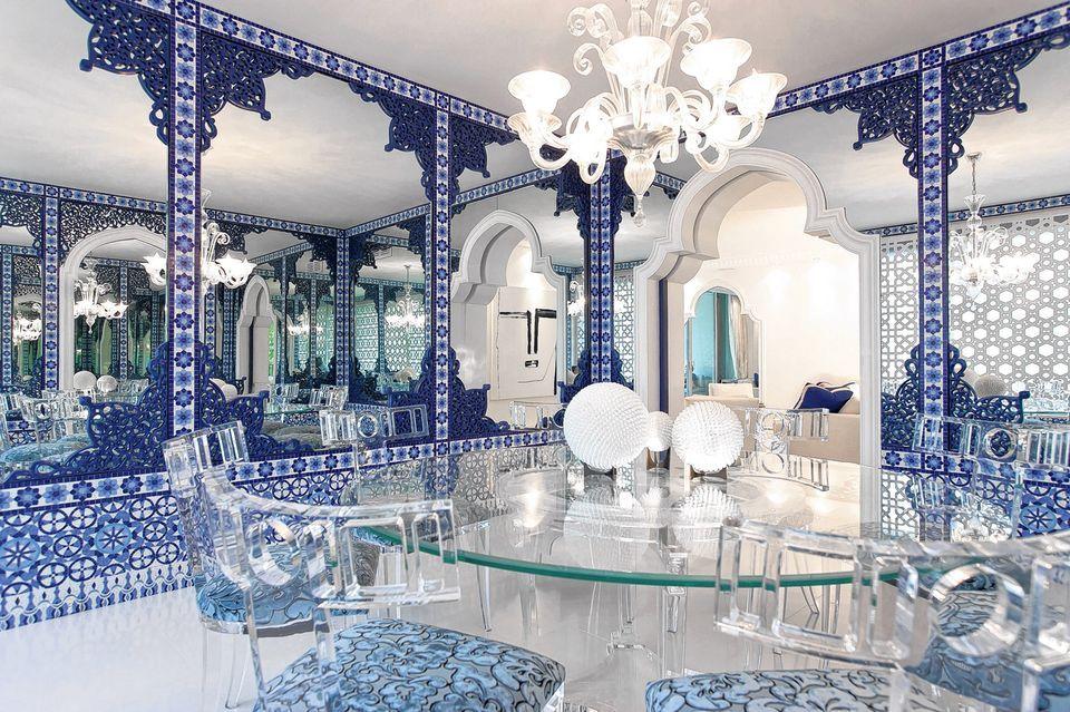 moroccan dining room ideas    daniel ponton's condo evokes