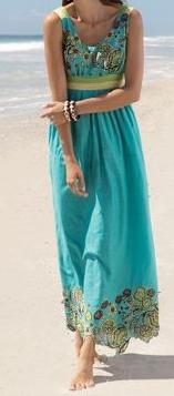 turquoise maxi dress   ~ Pinterest Magazine ~   Pinterest ...
