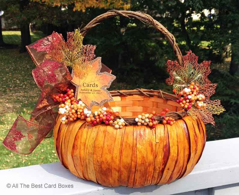 Fall Wedding Card Basketfall wedding shower invitationfall – Fall Wedding Card Boxes