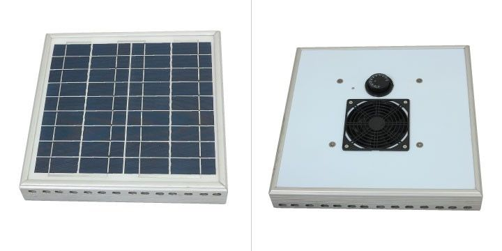Grandio Solar Roof Fan Solar Roof Roof Fan Greenhouse Ventilation