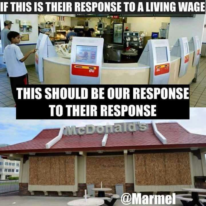 If this is their response to a living wage then this ...
