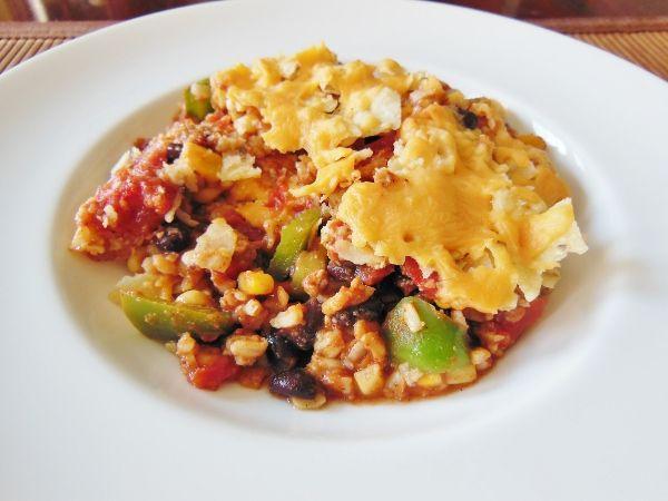 healthy taco casserole - w/ quinoa instead of rice?