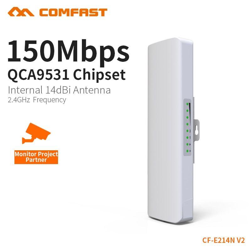 Comfast Cf E214n V2 High Power 14dbi Antenna Outdoor Wifi Receiver Long Range Coverage Signal Booster Amplifier Outdoor Cpe Ap Rev Signal Boosters Wifi Antenna