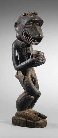 Baule Gbekre Monkey Figure Ivory Coast Afrika Skulpturen Und