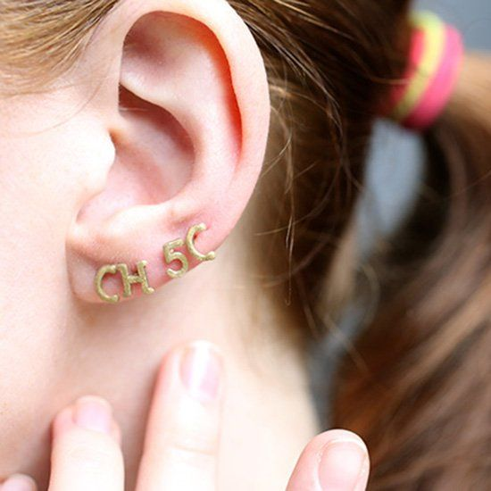 Make Your Own Chic Initial Earrings From You Guessed It Abc Pasta