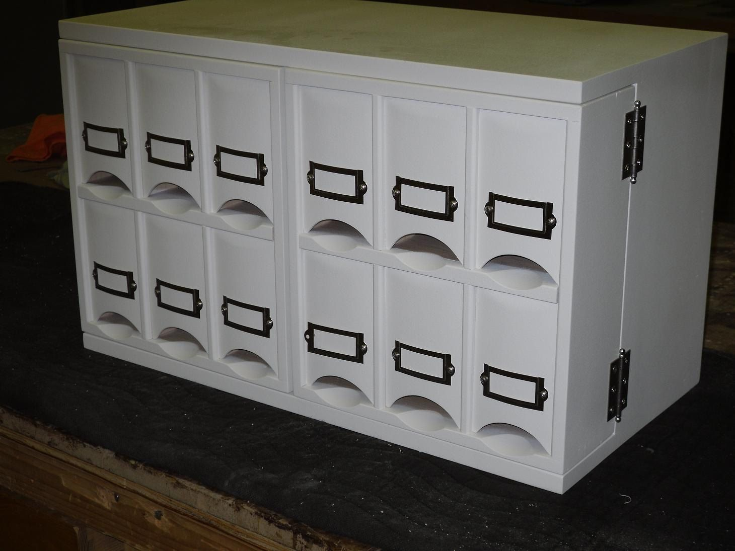 Small Countertop Tea Storage Cabinet Made When Ordered