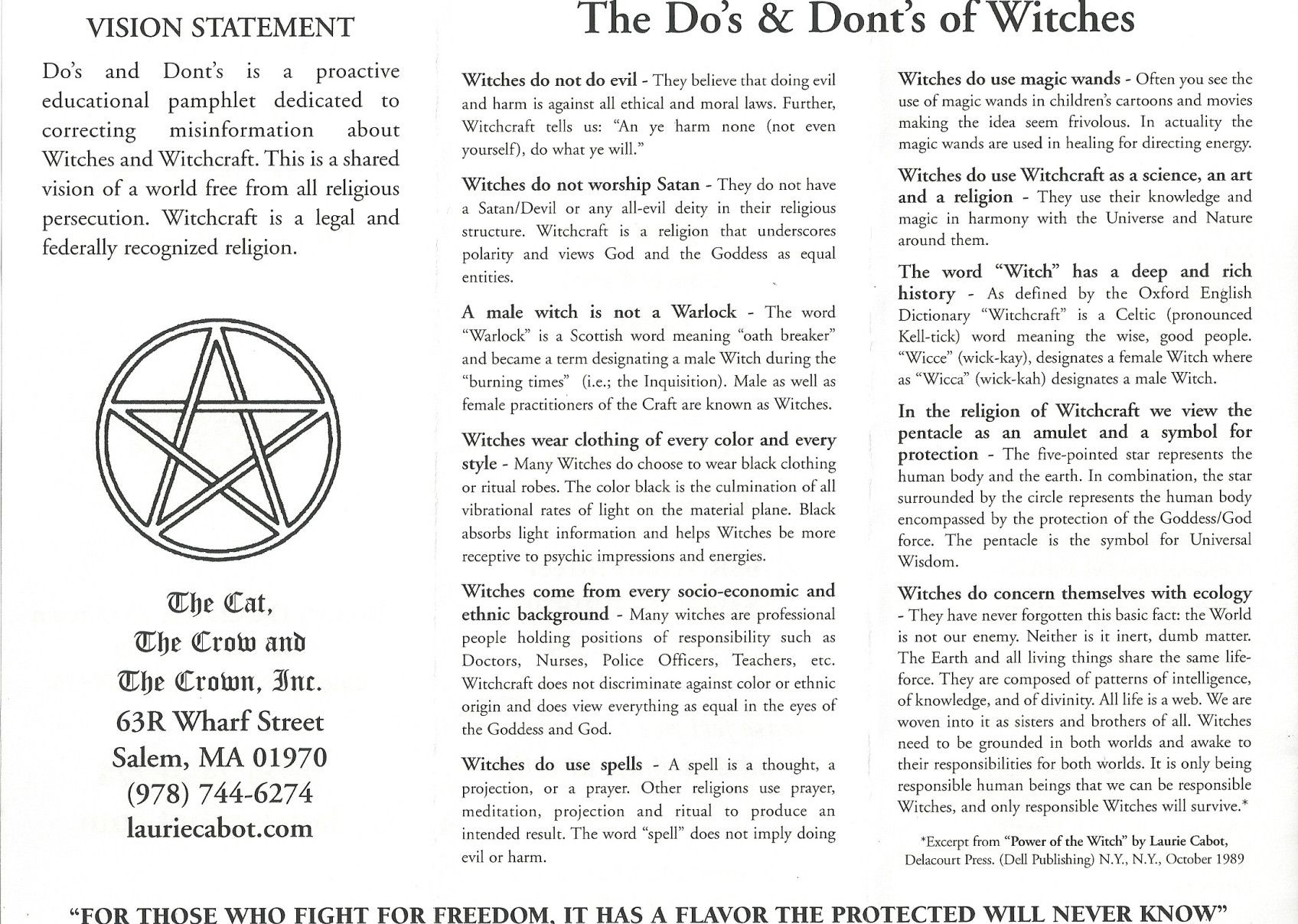 Witches Dos And Don Ts Witch