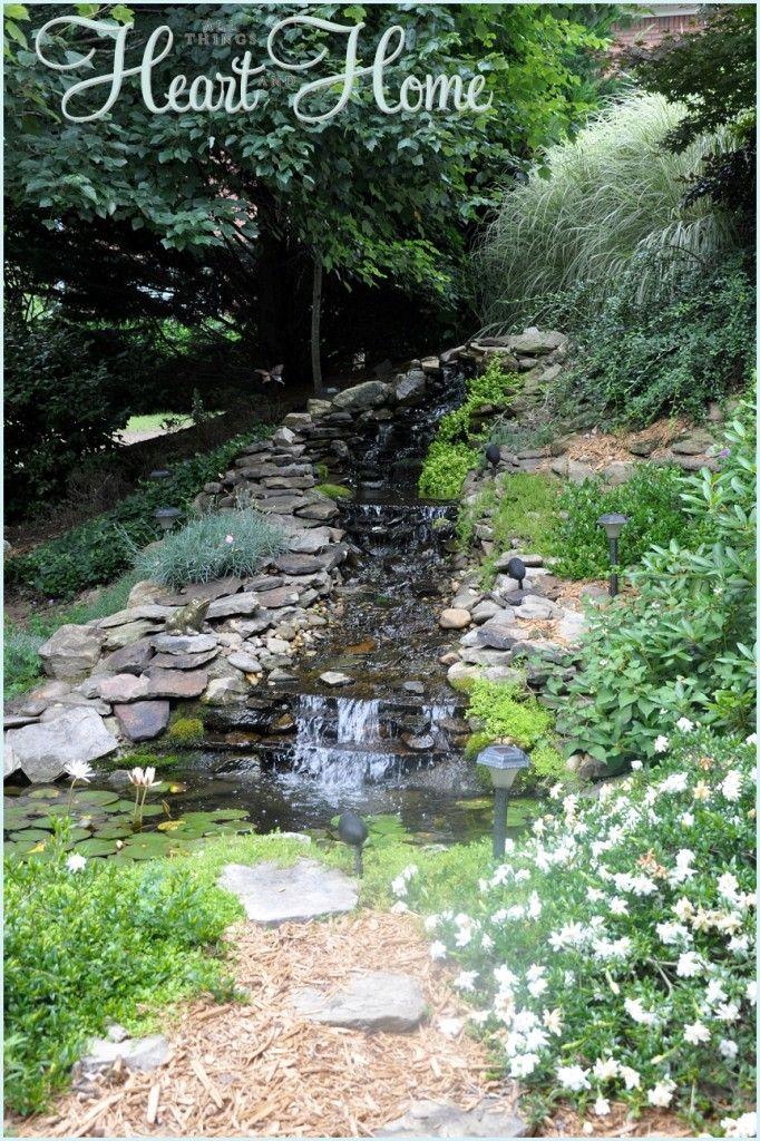 DIY Backyard Waterfall & Pond | Ponds backyard, Diy pond ...