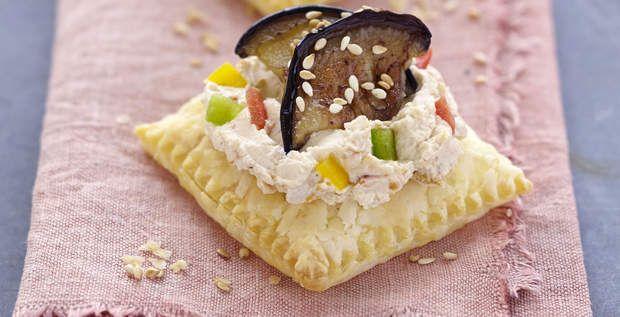 Bouchées feuilletées à la méridionaleUne idée d'apéritif raffiné et facile à préparer, savourez ces bouchées feuilletées entre amis pour un apéro très convivial.