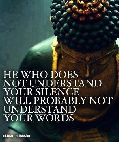 Sometimes silence is the answer