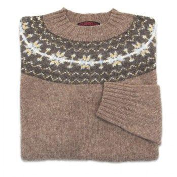 O'Connell's Womens Scottish Shetland Sweater - Fair Isle - Nutmeg ...