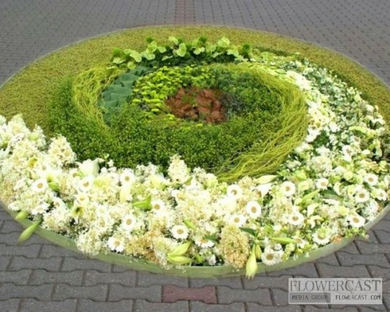 Contest of flower carpets in Ventspils (Latvia