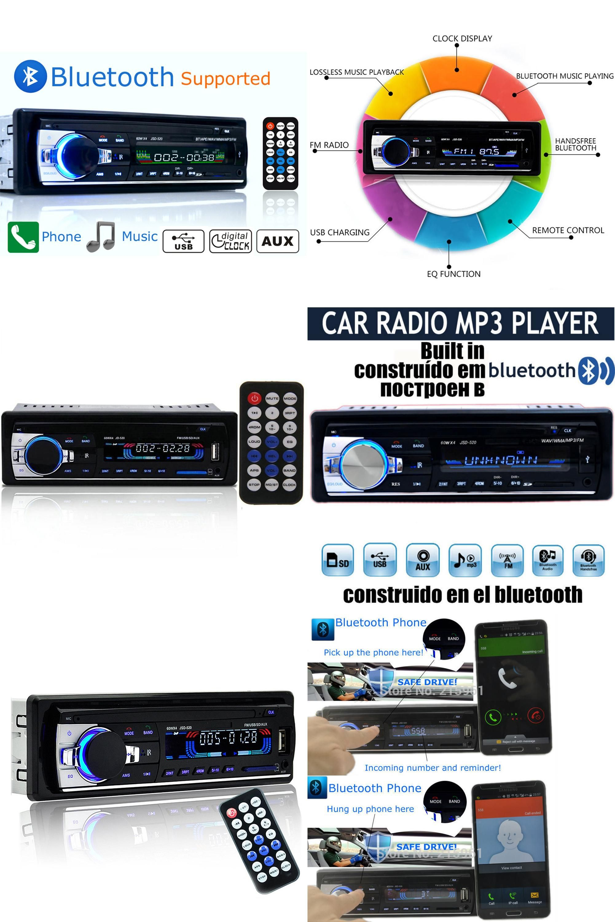 [Visit to Buy] Autoradio 12V Bluetooth V2.0 Car Radio JSD520 Car Stereo In-dash 1 Din FM Aux Input Receiver SD USB MP3 MMC WMA Car Radio Player #Advertisement