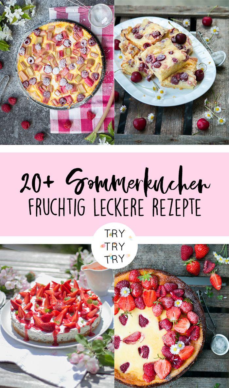 21 Sommerkuchen für deine Kaffeetafel   Sommerkuchen, Sommer ...