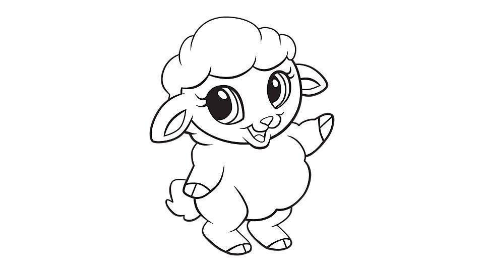 Baby Sheep Coloring Printable Puppy Coloring Pages Animal Coloring Pages Coloring Pages