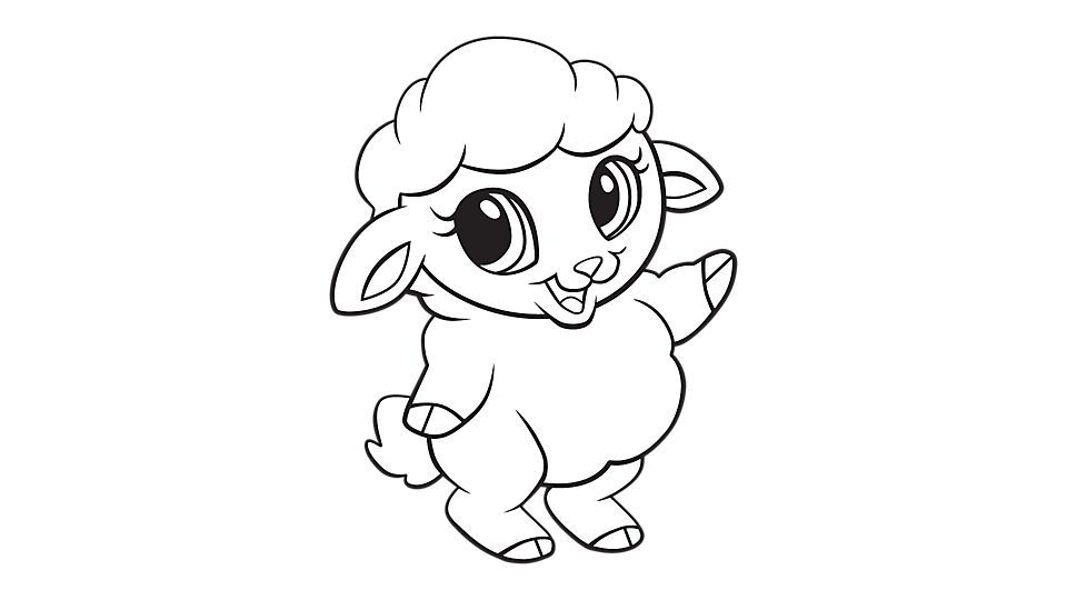 Baby Sheep Coloring Printable Puppy Coloring Pages Rabbit