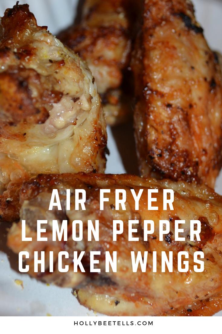 Mouth-Watering Air Fryer Lemon Pepper Chicken Wings - Hollybee Tells