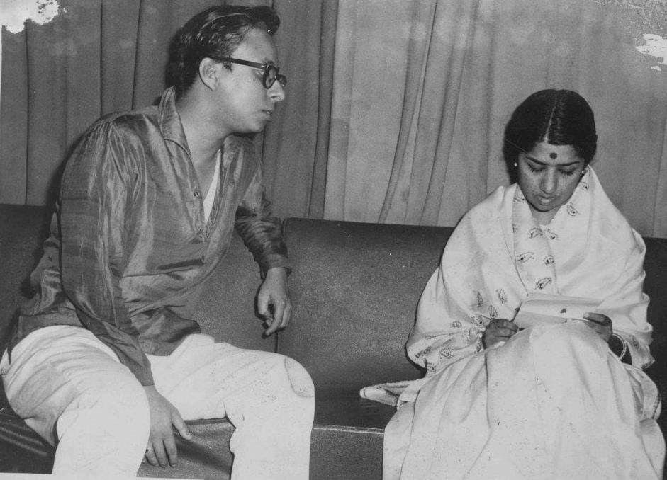 A young Pancham with Lata Mangeshkar. | Bollywood music, Music legends, Bollywood stars