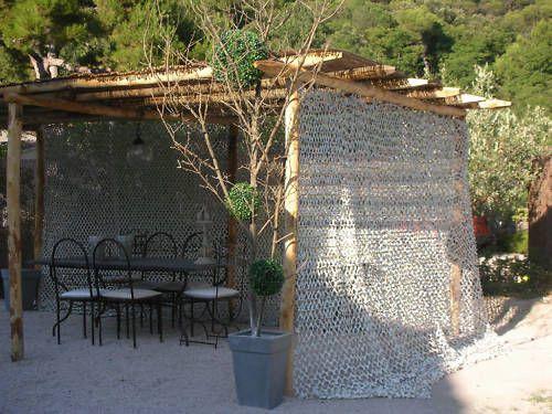 Filet De Camouflage Blanc Neuf Au Metre Lineaire Ebay Pergola Deco Espagnole Idées De Patio