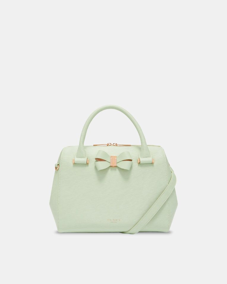 b26dce94a6d91 Bow detail small leather bowler bag - Olive | Bags | Ted Baker  #smallleatherhandbagsuk