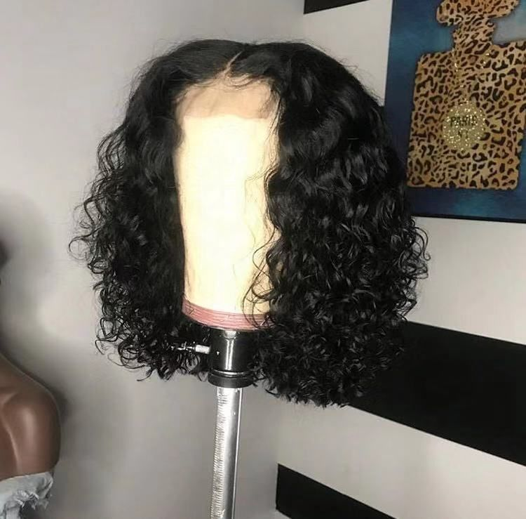 SeleonHair Short Deep Curl Hairstyle HD Transparent Lace Human Hair Wigs Front Lace Wig Knots Blenched Pre-plucked #lacewigs