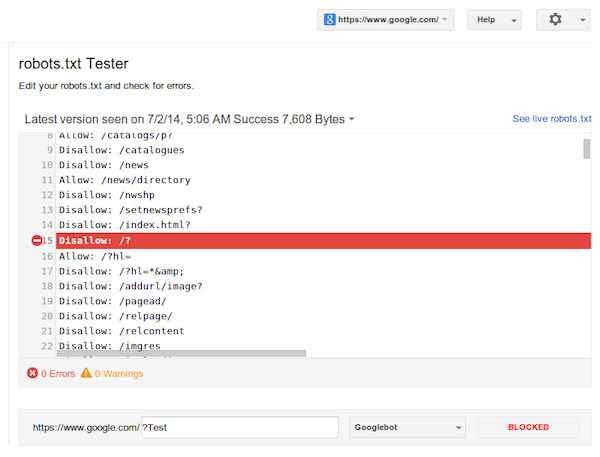 new robots txt tester launches in google webmaster tools latest
