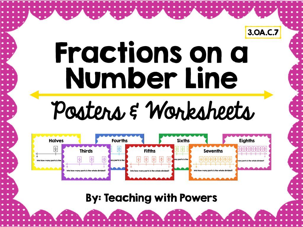 Fractions On A Number Line Posters Amp Worksheets