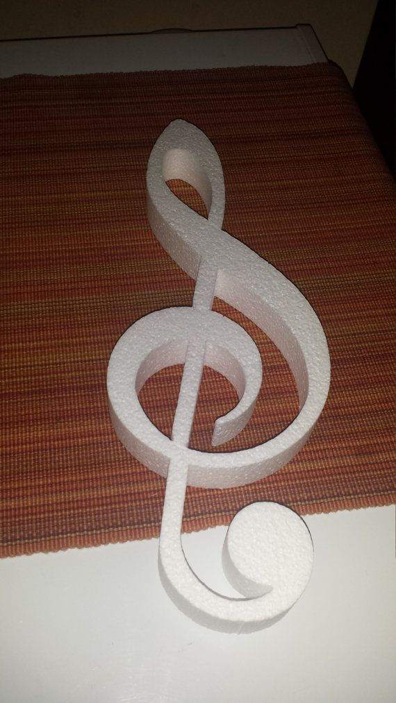 Styrofoam Musical Note Individual Shapes Craft By Sarasfavors