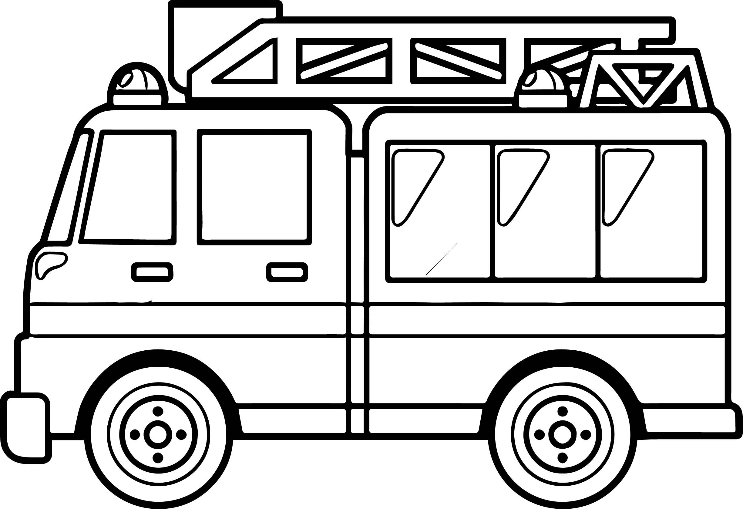 Printable Police Truck Coloring Pages