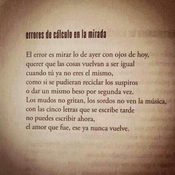 Errores De Calculo En La Mirada With Images Quotes Book