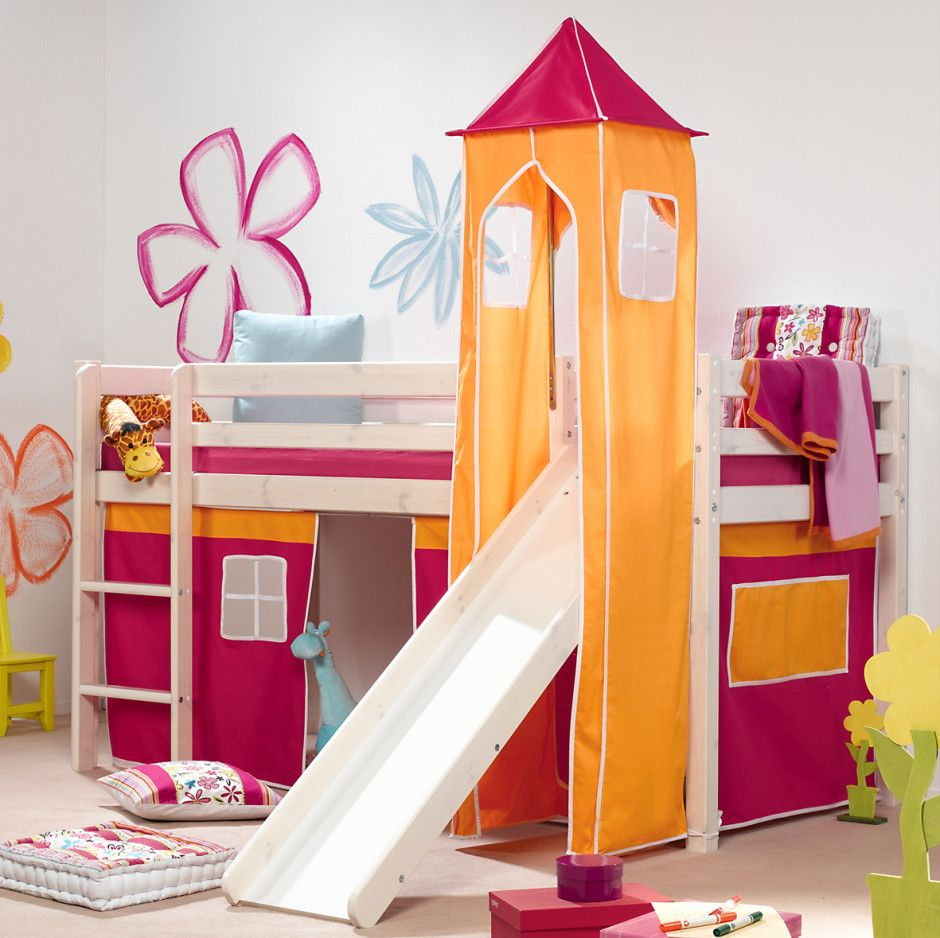 Beautiful Bedrooms For Kids. Kids Bedroom  Beautiful Tent Kid Beds In Orange And Pink Color