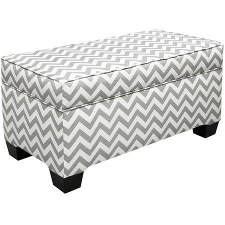 Peachy Milroy Pouf Upholstered Storage Bench Fabric Storage Machost Co Dining Chair Design Ideas Machostcouk