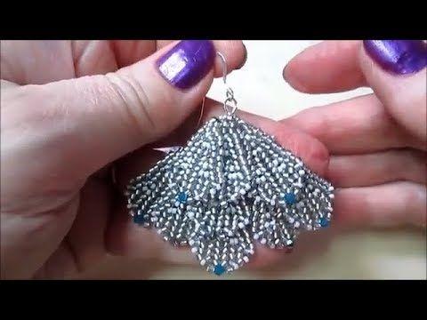 Photo of DIY Beaded Fan Earrings Tutorial Lady Green Eyes Jewelry