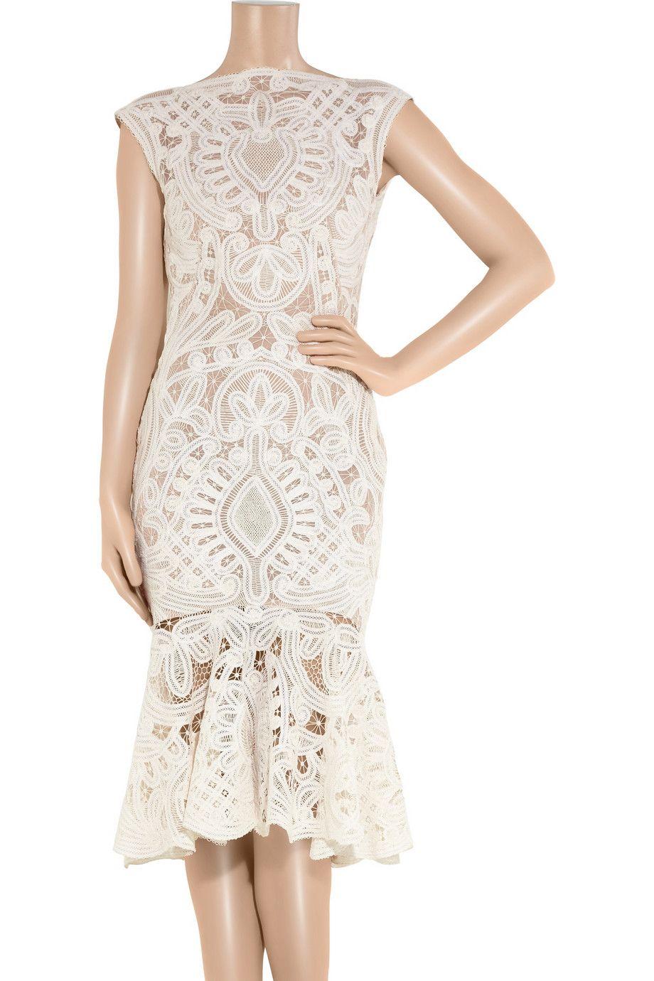 Alexander McQueen|Crochet-embroidered silk-organza dress|NET-A-PORTER.COM rehearsal dinner