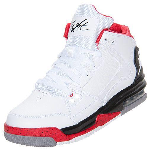 new product ef9e4 dfdd8 Boys  Grade School Jordan Flight Origin Basketball Shoes   Finish Line    White Black Fire Red