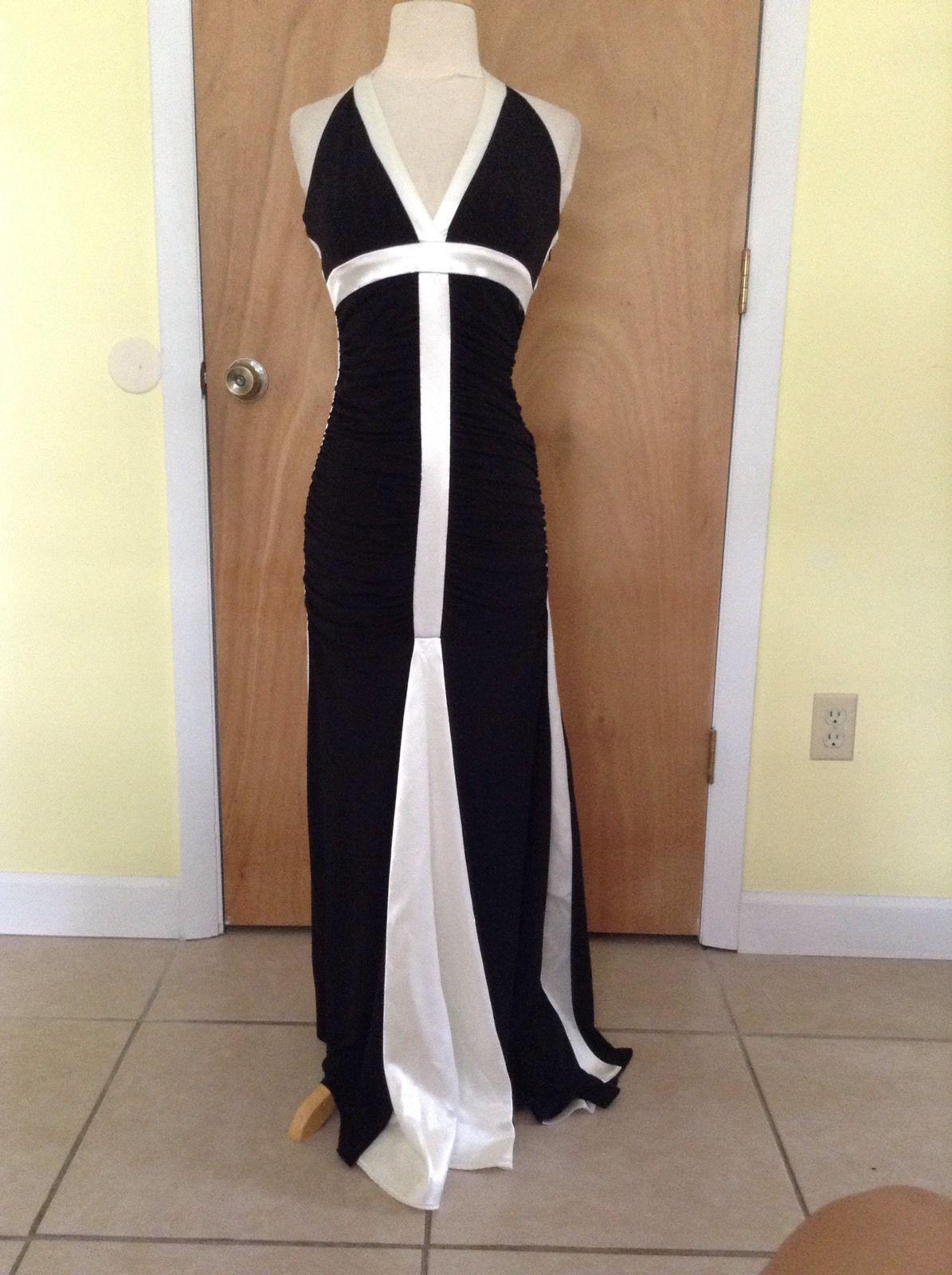 Cool amazing juniorus jessica mc clintock black and white prom dress
