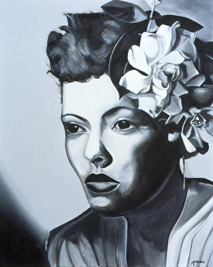 Billie Holiday  Art Canvas Print