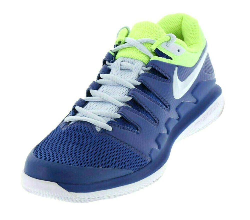 Nike Air Zoom Vapor X Mens Tennis Shoes 13 Indigo Force Volt Glow Aa8030 447 Nike Casual In 2020 Tennis Shoes Tennis Court Shoes Nike Men