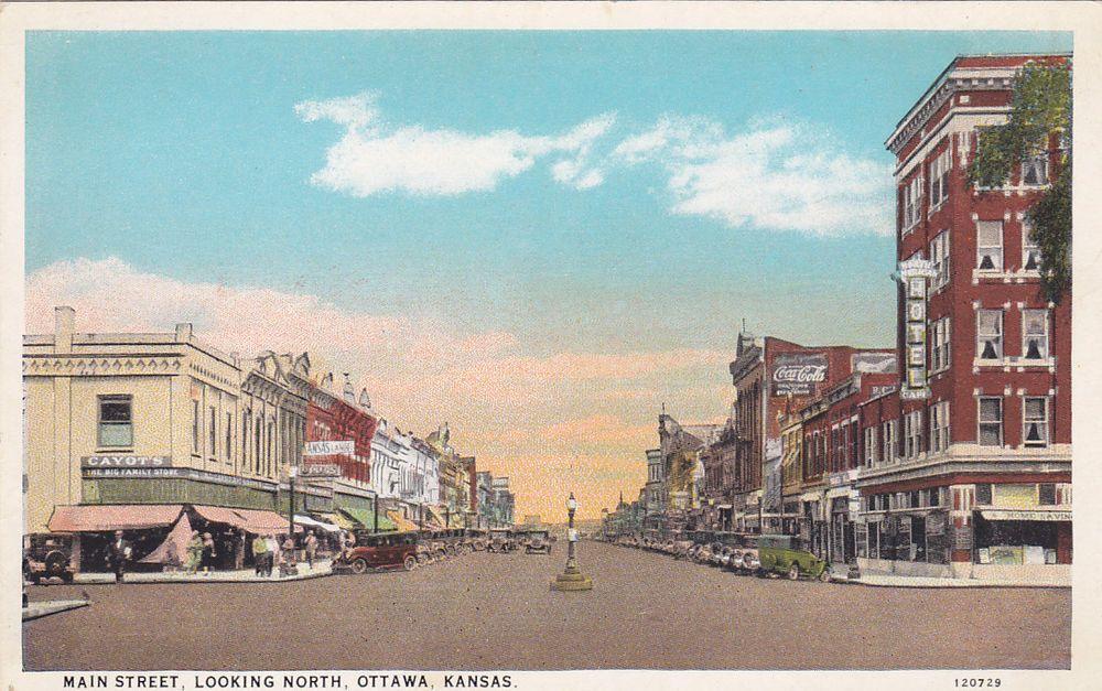 Kansas Old Main Street Postcards - Peter D. Paul.com