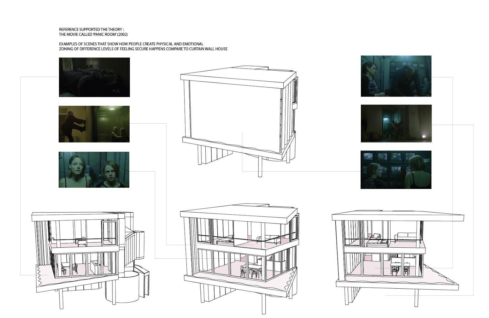 Shigeru Ban Curtain House Plan