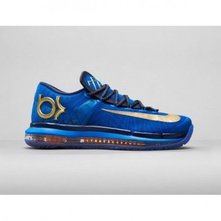 683250-474 Nike KD VI Elite Premium Photo Blue/Metallic Gold-Midnight Navy