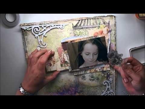 'An Autumn Story' mixed media page by Marta Lapkowska