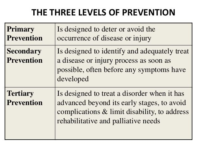 There Are Three Levels Of Prevention The Primary Level Is To Prevent The Disease From Happening And There Are No Curr Prevention Health Science Nursing School