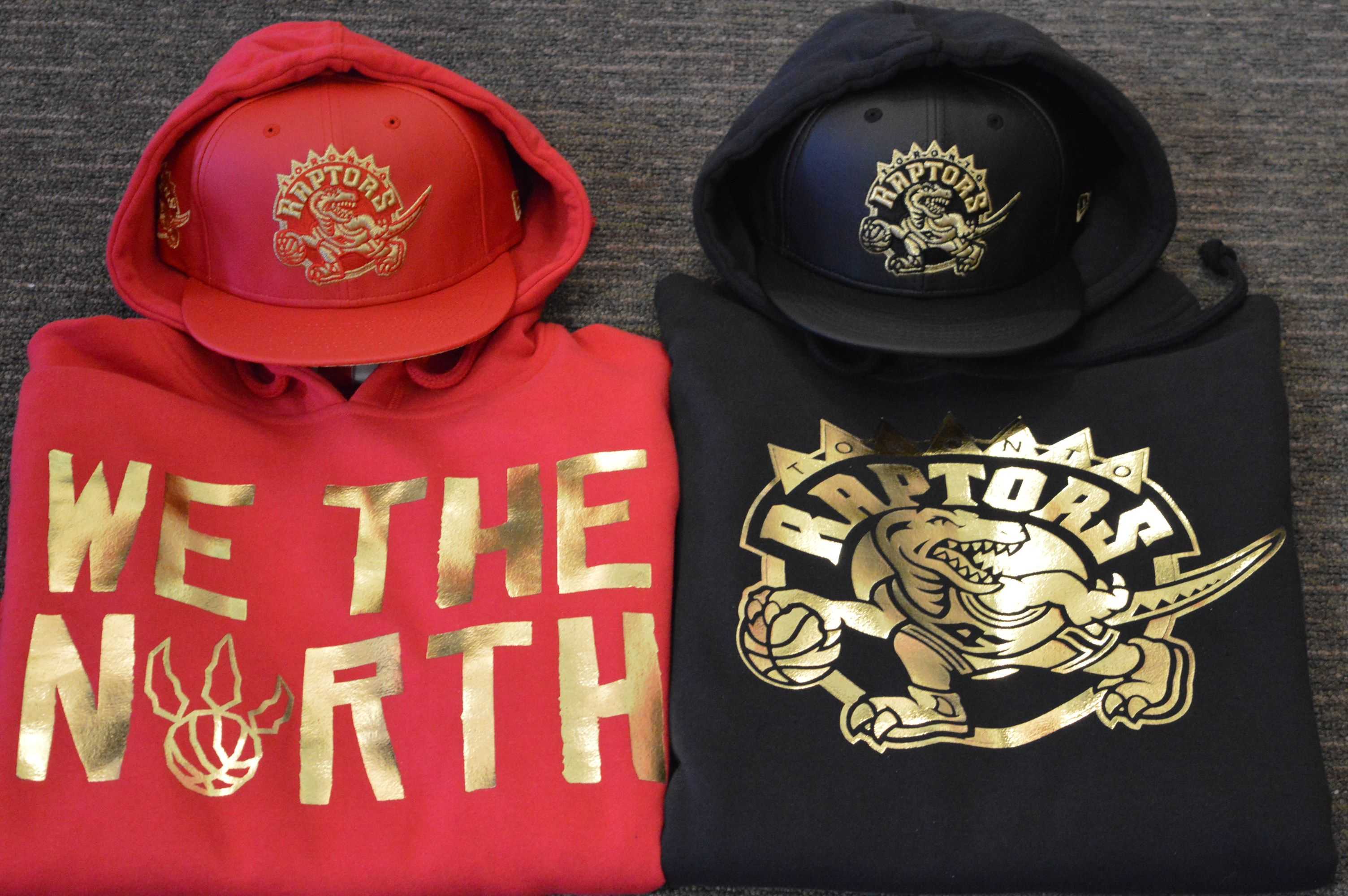 official photos 7283a 4562b Mitchell & Ness Toronto Raptor Black & Gold & We The North ...