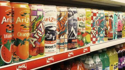 Arizona Tea Cans -- every can puts a smile on my face