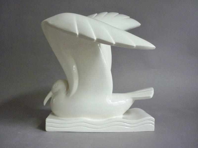 Adnet mouette céramique craquelée Art Déco 1930 éditions La Maitrise - Galeries Lafayette