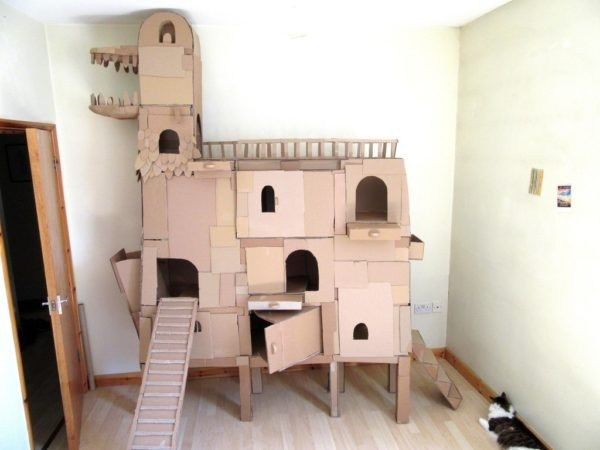 Charmant The Cat Ark Is A Massive Cardboard Cat Castle! [Video]